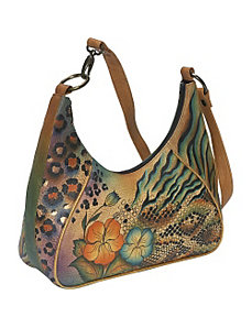 Medium Zip Top Hobo - Python Safari by Anuschka