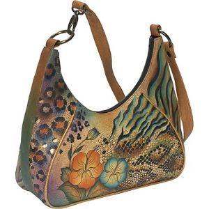 Medium Zip Top Hobo - Python Safari