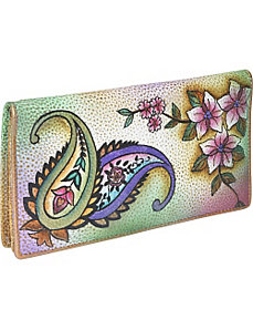 Ladies 2 Fold Slim Wallet - Jaipur Paisley by Anuschka