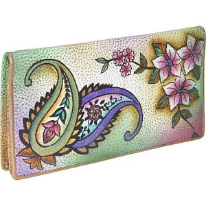 Ladies 2 Fold Slim Wallet - Jaipur Paisley