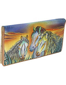 Ladies 2 Fold Slim Wallet - Wild Mustang by Anuschka