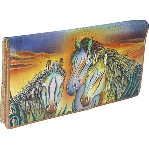 Ladies 2 Fold Slim Wallet - Wild Mustang