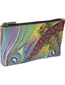 Cosmetic Pouch - Dancing Peacock by Anuschka