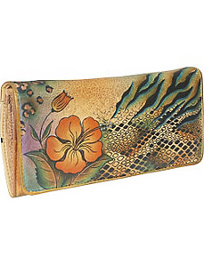 Accordion Flap Wallet - Python Safari by Anuschka
