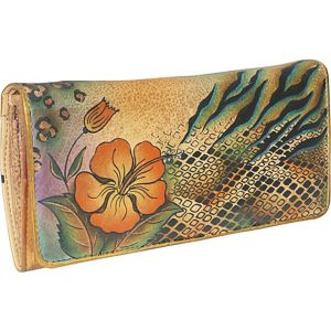 Accordion Flap Wallet - Python Safari