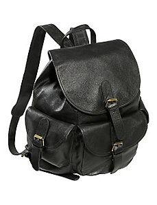 Urban Buckle-Flap Backpack by AmeriLeather