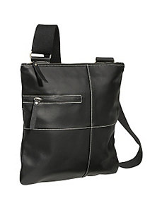 Slim Cross-Body Messenger Bag by AmeriLeather