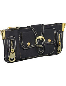 Gold Toned Hardware Clutch by Ashley M
