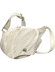 Croc Embossed Mini Messenger Bag by Ashley M