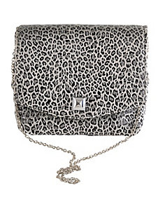 Square Leopard Clutch by Baxter Designs