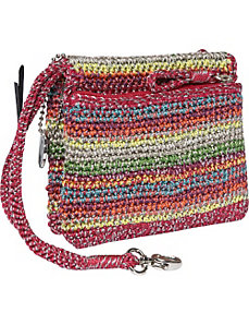 Classic Crochet Double Zip Wristlet by The Sak