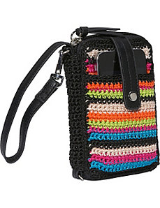 Classic Crochet Smartphone Wristlet by The Sak