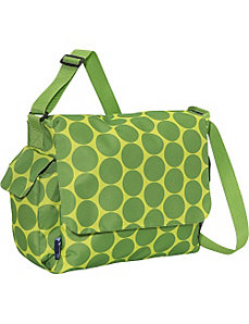 Big Dots Green Diaper Bag by Wildkin