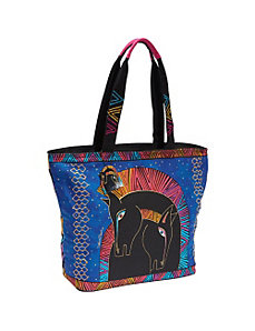 Embracing Horses Shoulder Tote by Laurel Burch