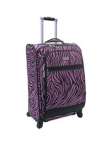 24' Wild Zebra Exp. Spinner by Nicole Miller Luggage