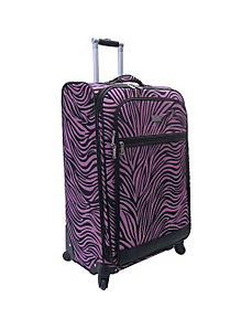 28' Wild Zebra Exp. Spinner by Nicole Miller Luggage