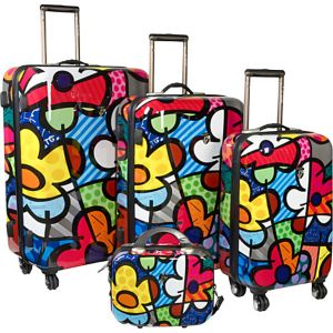 Flowers 4 Piece Luggage Set