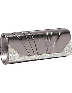 Metallic Clutch with Rhinestones by J. Furmani