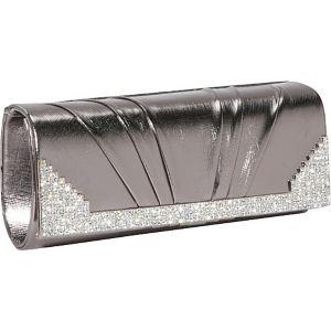 Metallic Clutch with Rhinestones