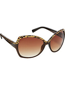 Oversized Animal Print Sunglasses by Steve Madden Sunwear