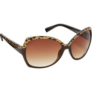 Oversized Animal Print Sunglasses