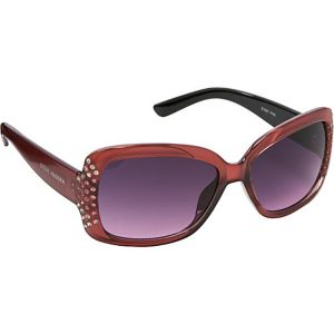 Rectangular Stone Embellished Sunglasses