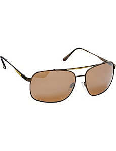 Polarized Rectangular With Spring Hinge Sunglasses by Steve Madden Sunwear