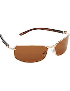 Polarized Rectangular Sunglasses by Steve Madden Sunwear