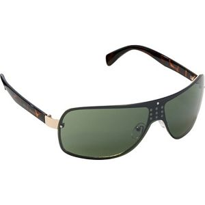 Plastic Temple Sheild Sunglasses