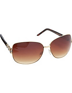 Rectangular Oversized Metal Sunglasses by Steve Madden Sunwear