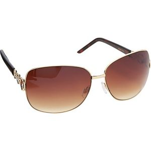 Rectangular Oversized Metal Sunglasses
