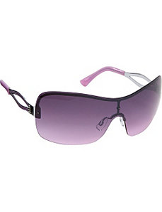 Semi-Rimless Shield Sunglasses by Steve Madden Sunwear