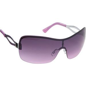 Semi-Rimless Shield Sunglasses