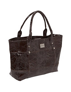 Crinkled Patent Laptop Tote by Rampage