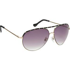 Epoxy Pinhead Embellished Aviator Sunglasses
