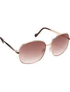 Oversized Round With Epoxy Detail Sunglasses by Jessica Simpson Sunwear