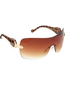 Rimless Shield Sunglasses by Jessica Simpson