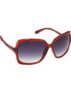 Oversized Rectangular Glam Sunglasses by Jessica Simpson Sunwear
