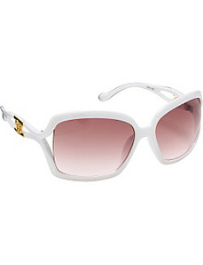 Oversized Rectangular Plastic Sunglasses by Jessica Simpson Sunwear