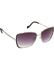 Textured Temple Rectangular Sunglasses by Jessica Simpson