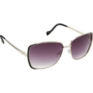 Textured Temple Rectangular Sunglasses