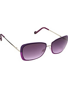 Retro Color Blocked Sunglasses by Jessica Simpson