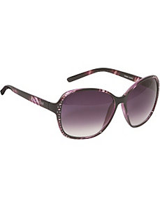 Oversized Stone Embellished Sunglasses by Rocawear Sunwear