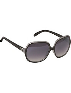 Metal Detailed Oversized Oval Sunglasses by Rocawear Sunwear