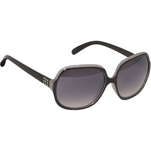 Metal Detailed Oversized Oval Sunglasses
