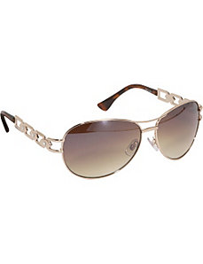 Stone Detail Aviator Sunglasses by Rocawear Sunwear