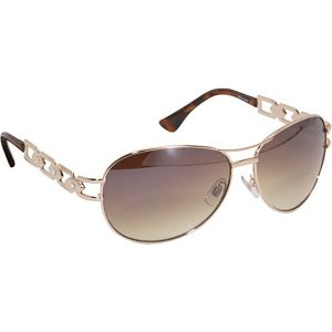 Stone Detail Aviator Sunglasses