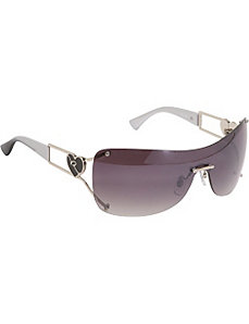 Heart Rimless Shield Sunglasses by Rocawear Sunwear