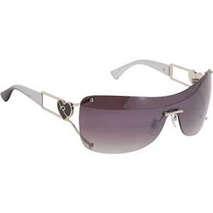 Heart Rimless Shield Sunglasses