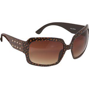 Rectangular Stud Detail Sunglasses